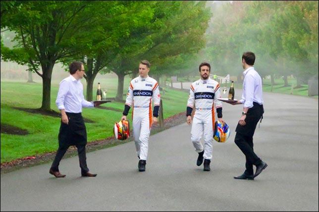 Стоффель Вандорн и Фернандо Алонсо (пресс-служба McLaren / Chandon)