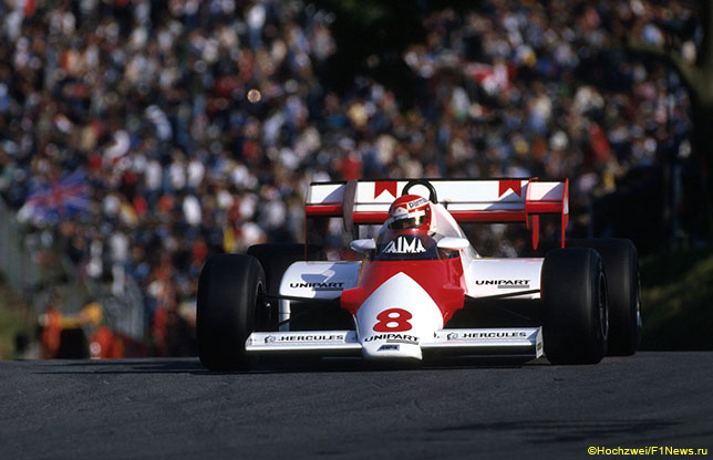 Ники Лауда за рулём McLaren с двигателем TAG-Porsche, Гран При Европы 1983 года
