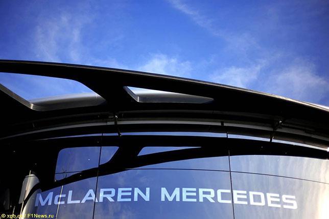 Моторхоум McLaren в 2014 году, последнем сезоне сотрудничества с Mercedes