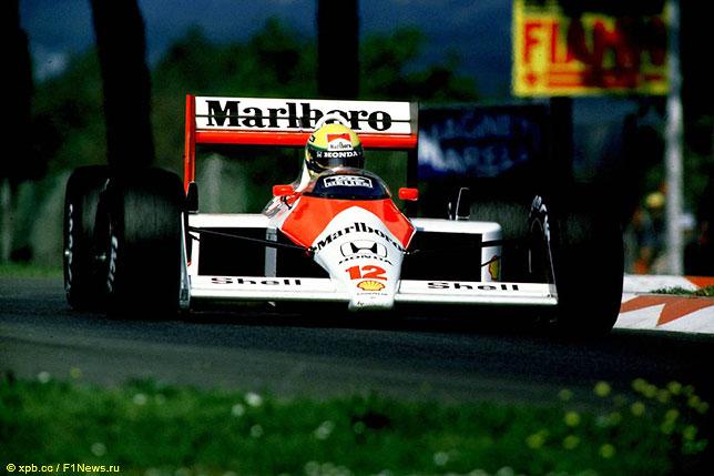 Айртон Сенна за рулём McLaren MP4/4