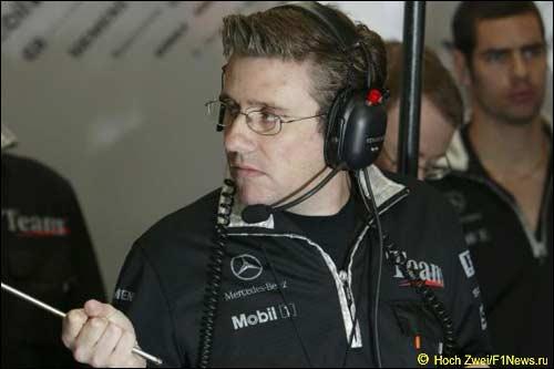 Пэт Фрай на Гран При Великобритании, 2004 г.