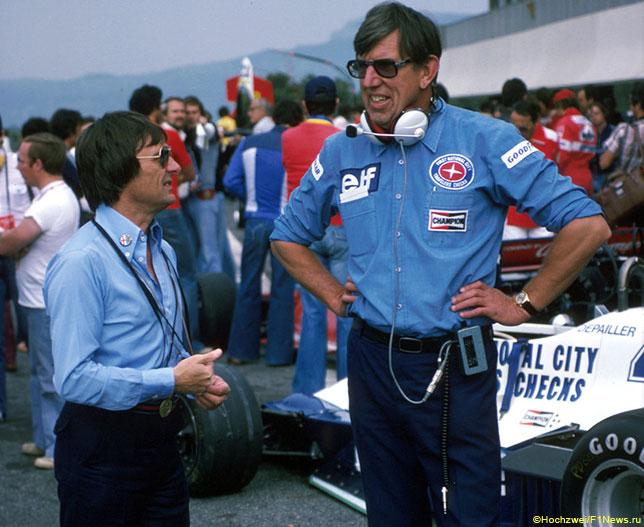 Кен Тиррелл (справа) и Берни Экклстоун, Гран При Франции, 1978 год