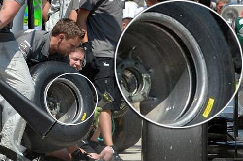 Диск Mercedes со слотом. Фото с сайта f1talks.pl