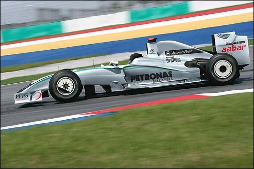 Проект раскраски машин Mercedes GP