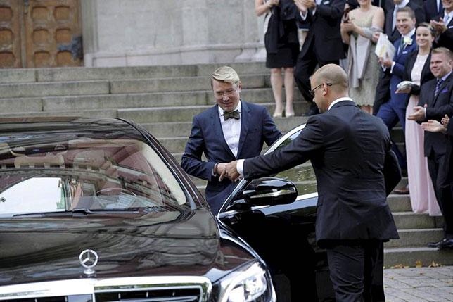 Мика Хаккинен был одним из гостей на свадьбе Валттери Боттаса, фото Ilta-Sanomat