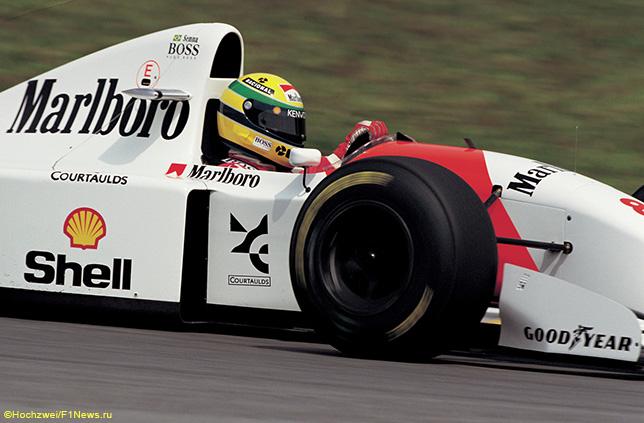 Айртон Сенна за рулём McLaren, 1993 год