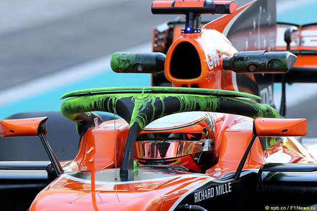 На тестах в Абу-Даби в McLaren исптывали очередную версию системы Halo