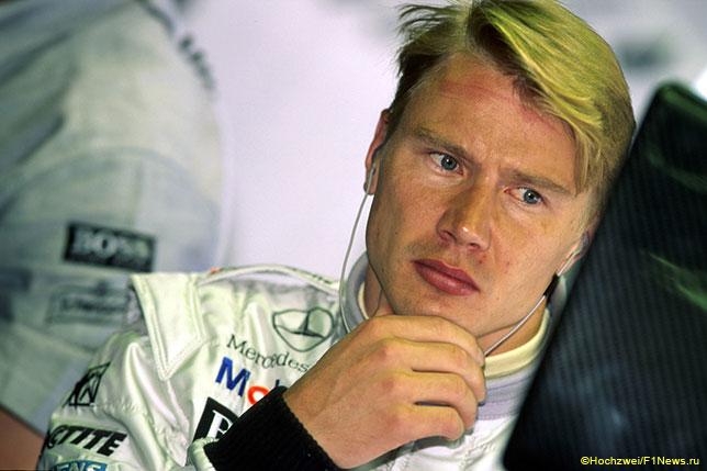 Мика Хаккинен, победитель Гран При Германии, который прошёл 2 августа 1998 года