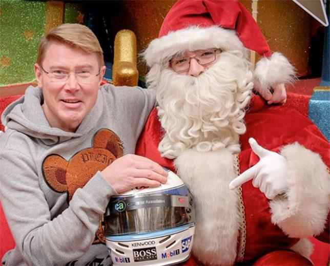 Мика Хаккинен и Санта-Клаус