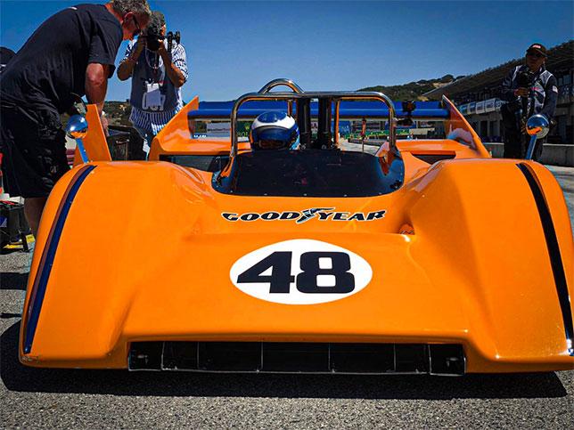 Мика Хаккинен за рулём McLaren M8D/3 Can-Am