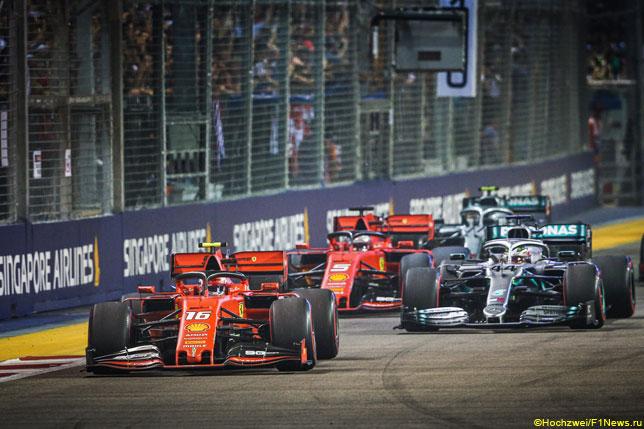 Ferrari и Mercedes в Сочи