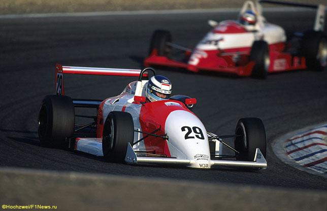 Мика Хаккинен и Михаэль Шумахер во времена выступлений в Формуле 3, 1990 год