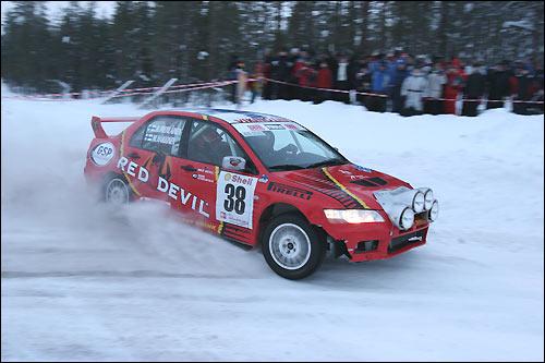 Мика Хаккинен на Arctic Lapland в 2007-м...