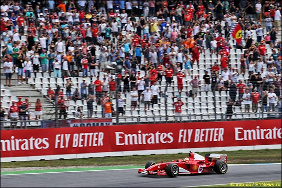 Мик Шумахер за рулём Ferrari 2003-GA