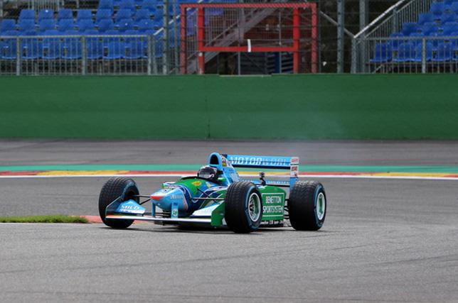 Мик Шумахер в Спа за рулём исторической Benetton B194, фото LPR