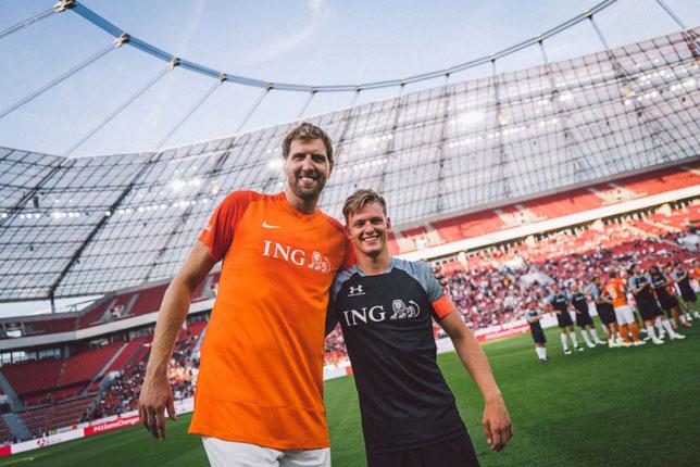 Дирк Новицки и Мик Шумахер, фото: Champions for Charity
