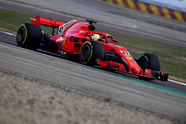 Мик Шумахер на тестах во Фьорано, фото пресс-службы Ferrari