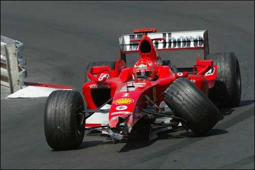 Авария Михаэля Шумахера в Монако'04