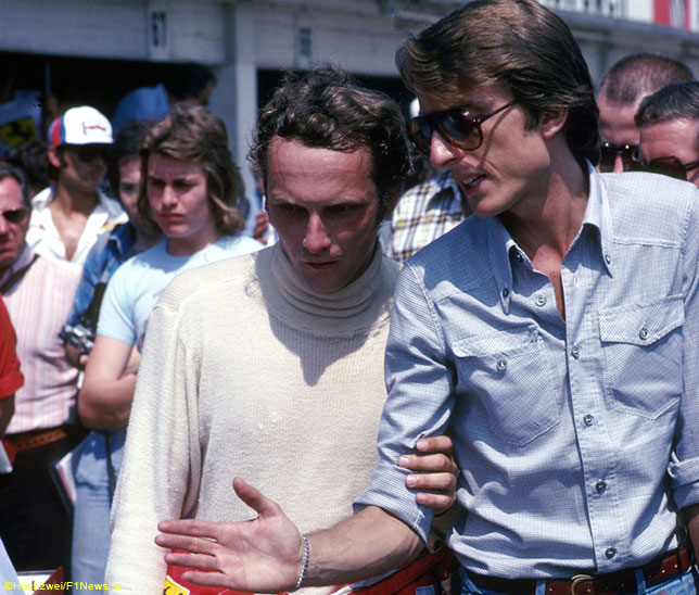 Исторический кадр: Лука ди Монтедземоло и Ники Лауда перед стартом Гран При Германии 1976 года
