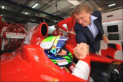 Фелипе Масса и Лука ди Монтедземоло. Фото из релиза Ferrari