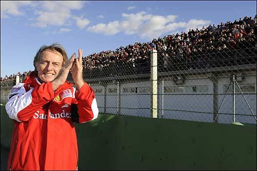 Лука ди Монтедземоло на празднике Ferrari в Валенсии