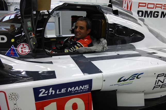 Хуан Пабло Монтойя в кокпите Porsche 919 Hybrid