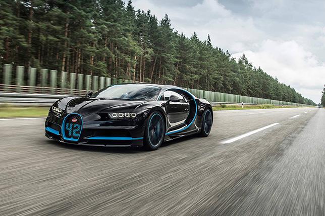 Bugatti Chiron во время рекордного заезда