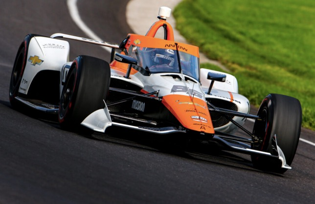 Хуан-Пабло Монтойя на тестах в Индианаполисе, фото Arrow McLaren SP