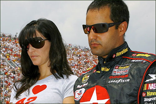 Хуан Пабло Монтойя с женой Конни