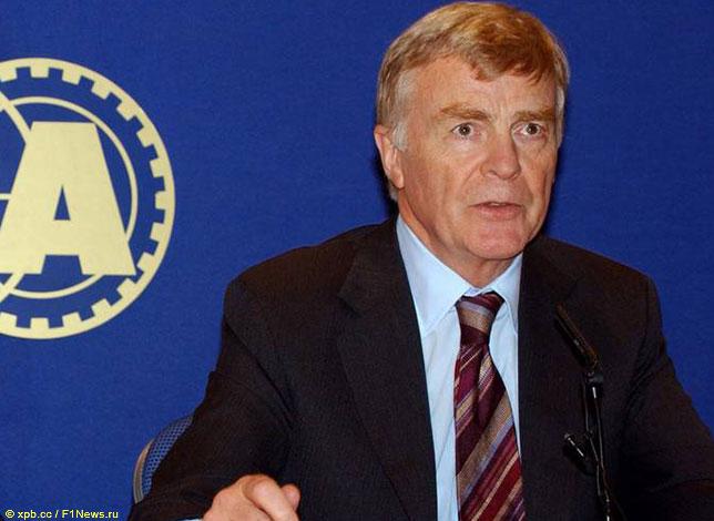 Макс Мосли во времена президентства в FIA, 2002 год