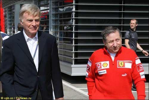 Макс Мосли (слева) и Жан Тодт, Гран При Сан-Марино, 2006 г.
