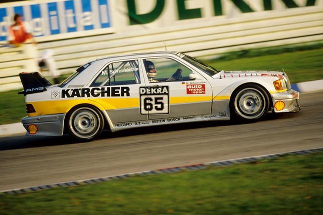 Михаэль Шумахер за рулём машины DTM, 1990 год