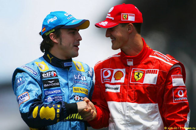 Фернандо Алонсо и Михаэль Шумахер, 2006 год