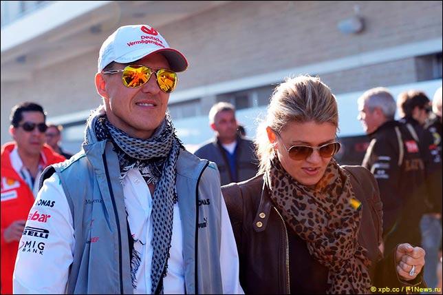 Михаэль и Коринна Шумахер в ноябре 2012 года