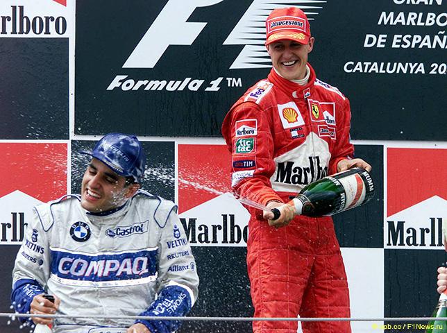 Михаэль Шумахер - победитель Гран При Испании 2001 года