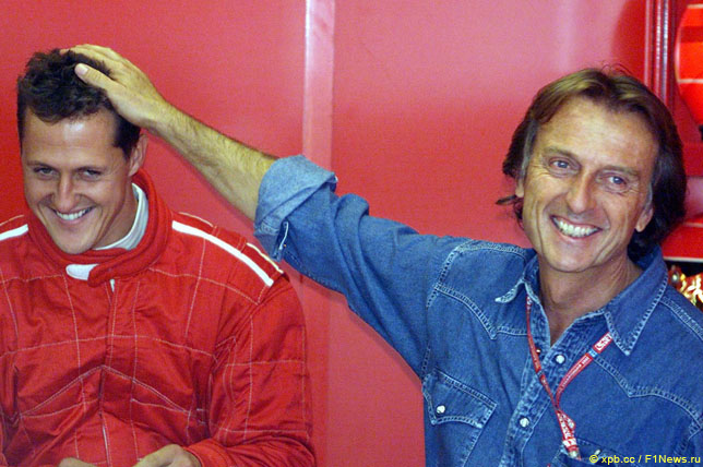 Михаэль Шумахер и Лука ди Монтедземоло, 2002 год