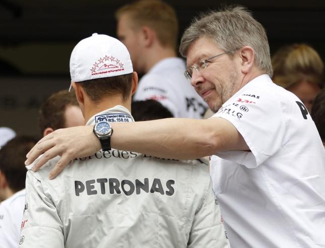 Росс Браун и Михаэль Шумахер, Гран При Бразилии 2012 года