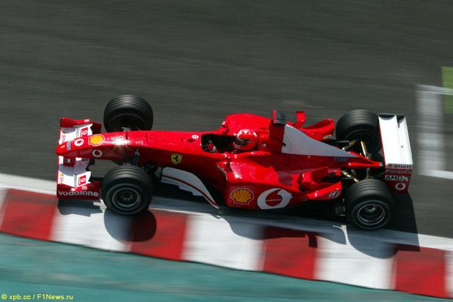Михаэль Шумахер на Гран При Франции 2002 года
