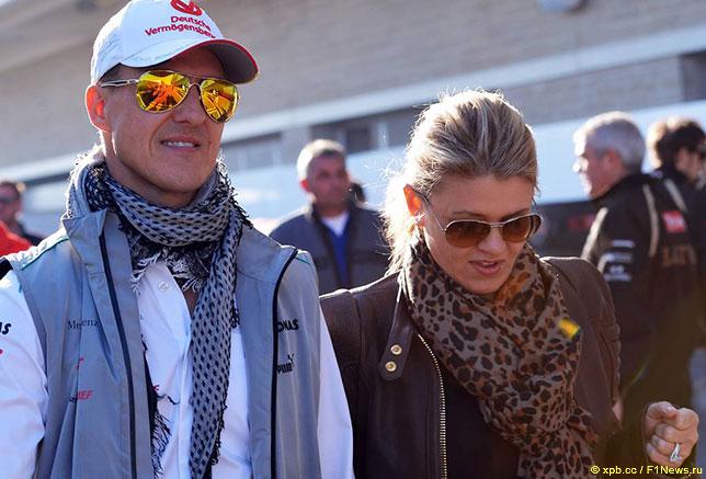 Михаэль Шумахер и его супруга Коринна, 2012 год