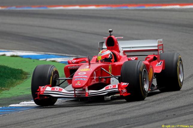 Мик Шумахер за рулём Ferrari F2004 в Хоккенхайме, 2019 год