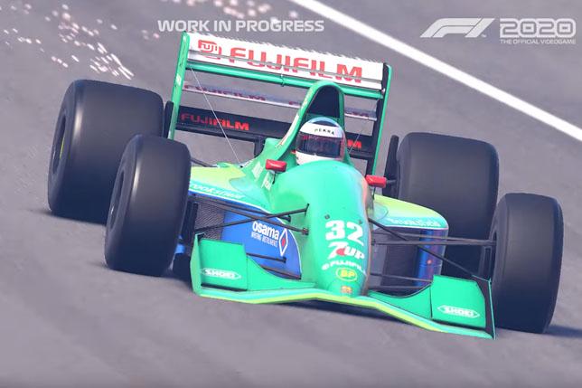 Jordan 191, кадр из игры F1 2020