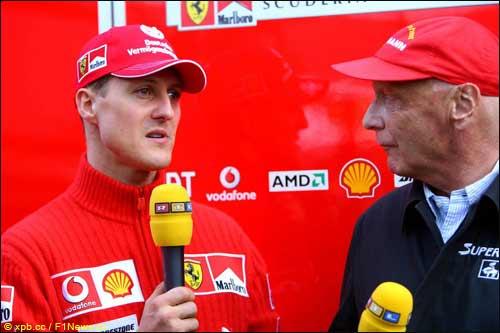 Михаэль Шумахер и Ники Лауда, Гран При Австралии 2006 г.