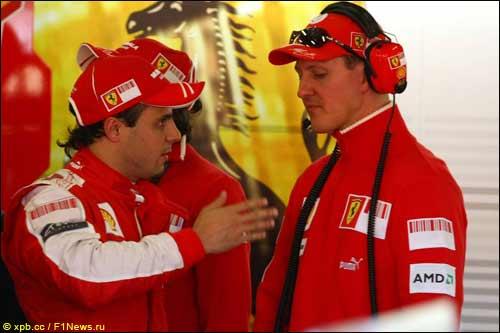 Михаэль Шумахер и Фелипе Масса, Гран При Австралии 2009 года