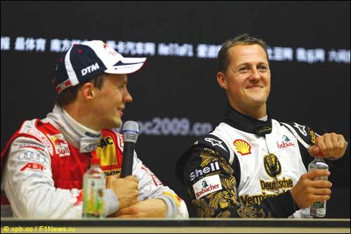 Гонка чемпионов 2009: Матиас Экстрём и Михаэль Шумахер