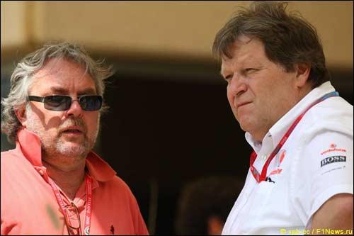 Кеке Росберг (слева) и Норберт Хауг