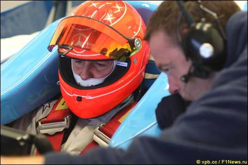 Михаэль Шумахер на тестах в Хересе