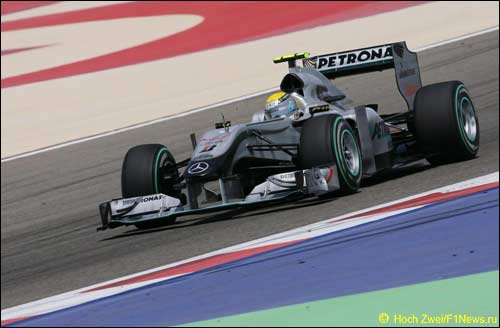 Нико Росберг на квалификации в Бахрейне