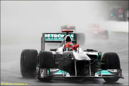 Михаэль Шумахер на трассе Гран При Канады