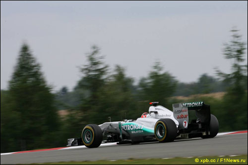 Михаэль Шумахер на трассе Гран При Германии