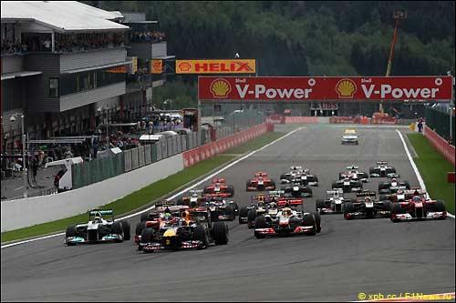Старт Гран При Бельгии